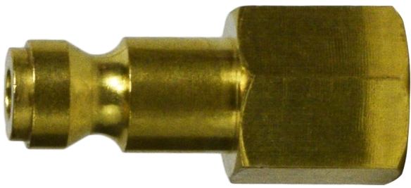 Brass Female Parker Plug 1/4-28501B